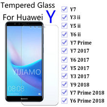 9H Glass for Huwei Y7 Y9 Y3 Y5 ii 2017 Screen Protector For Huawei Y6 Prime 2018 Protective Glass Y 3 5 6 7 9 Y6ii Y5ii Y3ii(China)