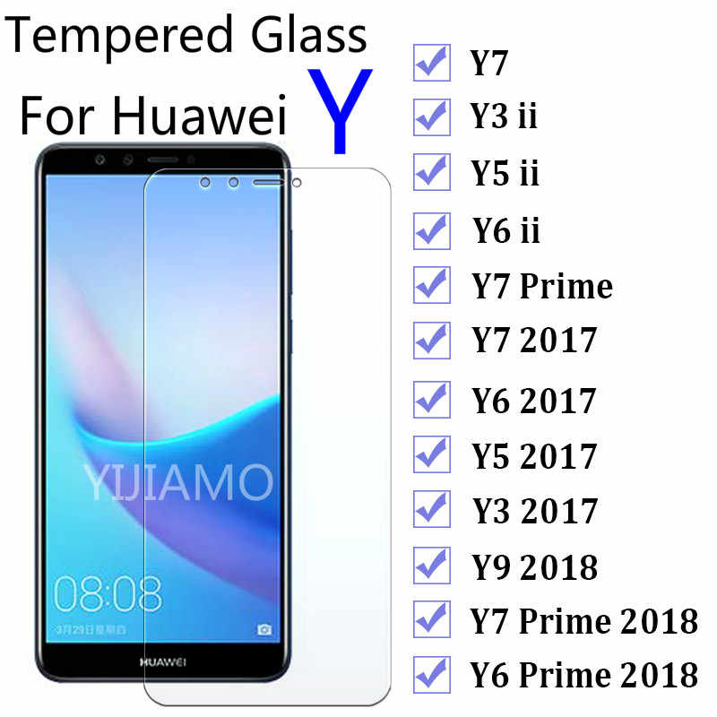 9H Glass for Huwei Y7 Y9 Y3 Y5 ii 2017 Screen Protector For Huawei Y6 Prime 2018 Protective Glass Y 3 5 6 7 9 Y6ii Y5ii Y3ii