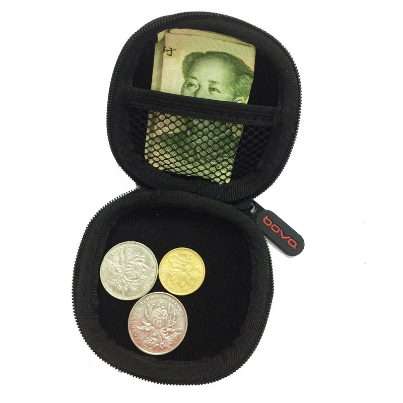 Portable Mini Coin Purse PU EVA Box for Coins Earphone Headphone SD TF Cards Cable Cord Wire Storage Key Wallet Bag Coin Purses oval style eva headphone carry bag hard for power beats pb in ear earphone pouches storage cases black box 100 60 40mm