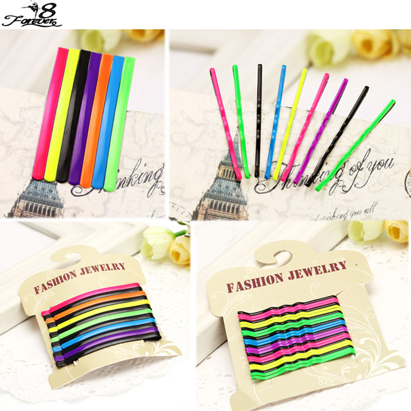 25pcs 12pcs Colorful Metal Bobby Hair Pins Clips Barrette Flat Wave Styles Multicolor Accessories In Braiders From Beauty Health On