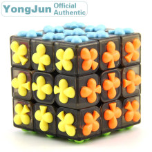YongJun Clubs Symbol 3x3x3 Magic Cube YJ 3x3 Professional Neo Speed Puzzle Antistress Fidget Educational Toys For Children yongjun diamond symbol 3x3x3 magic cube yj 3x3 professional neo speed puzzle antistress fidget educational toys for children