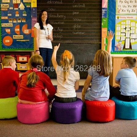 Kids Lesson Class Chair Colorful Bean Bag Seat Stool Beanbag