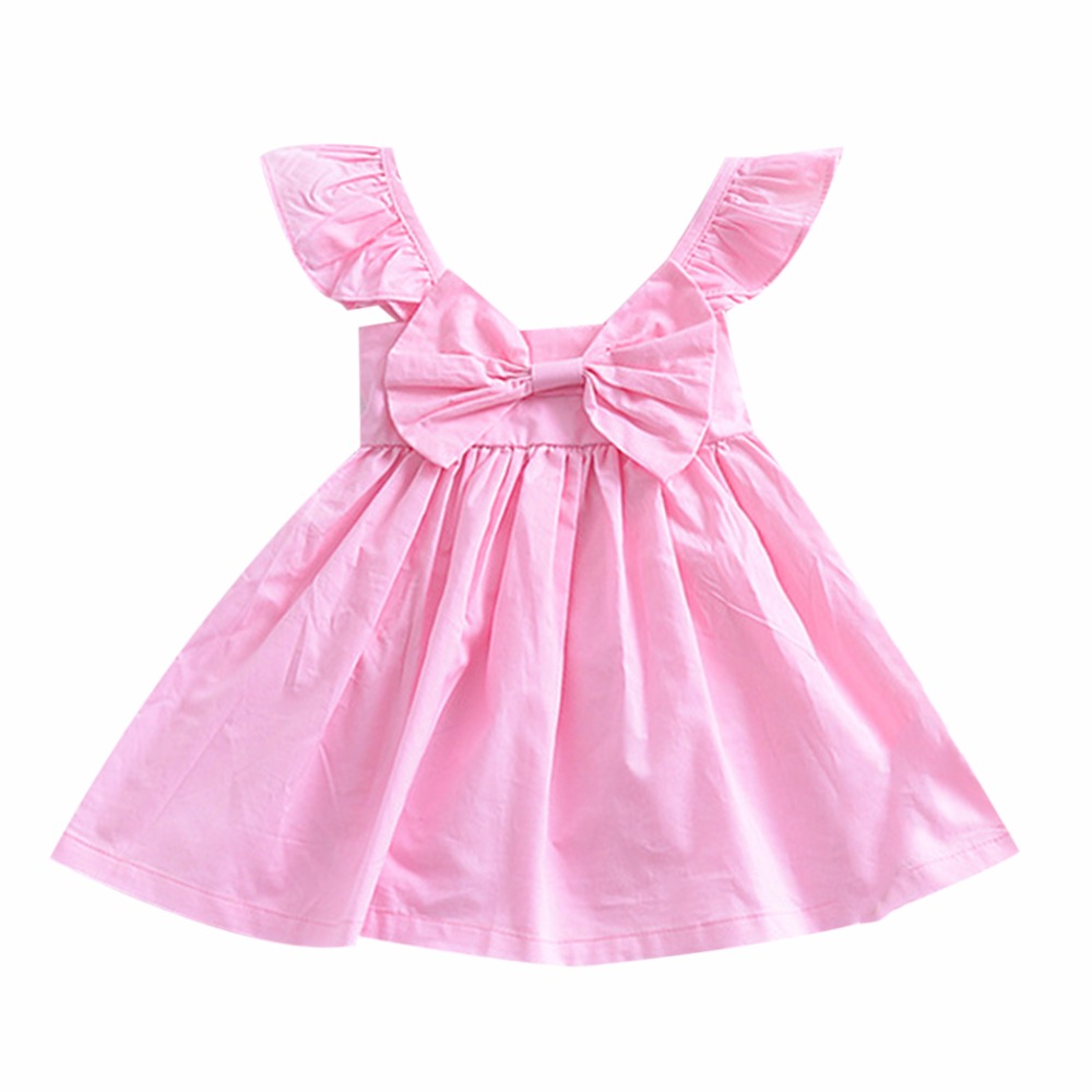 Baby Clothing 2018 Baby Girl Dress Summer Sleeveless Bow Princess Dresses Birthday Dress For Girl Baby Clothes Vestidos