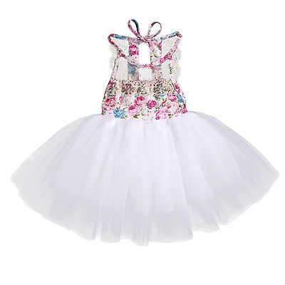 2017 New Cute Sequins Newborn Baby Kids Girls Tulle Tutu Lace Floral Sleeveless Dress Backless Party Dresses