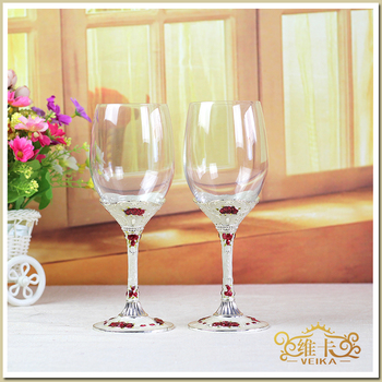 European exports to Russia of enamel glass of wine cup Wine goblet gift birthday gift