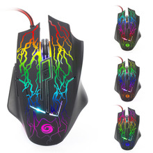 3200DPI LED Optical 6 Buttons 6D USB Wired Gaming Mouse Game Pro Gamer Ergonomic Computer Mice For PC Adjustable Gaming Mouse