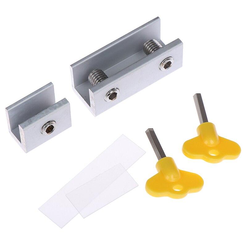 Door Window Lock Restrictor Aluminum Kid Security Window Limit Safety Keylock