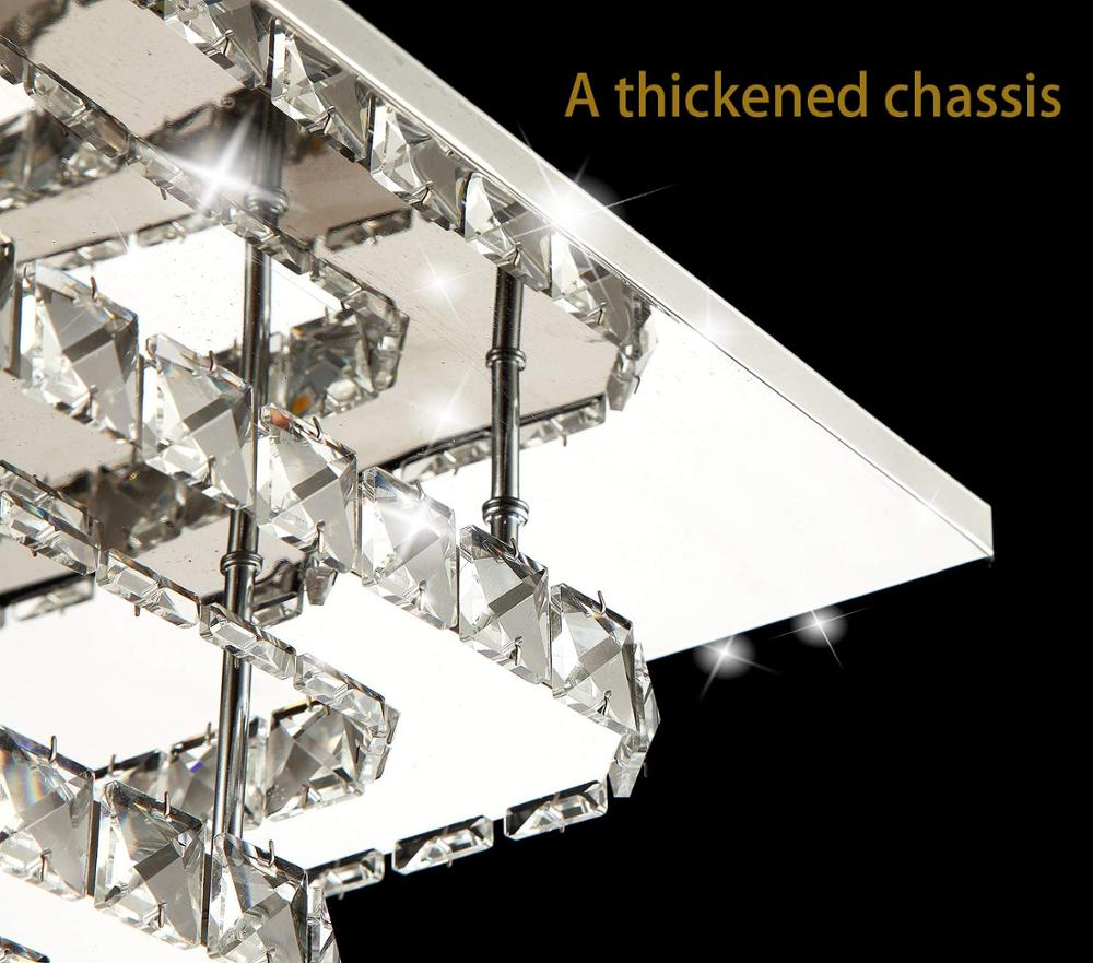 Image 3 - Modern Crystal LED ceiling light Fixture For Indoor Lamp lamparas de techo Surface Mounting Ceiling Lamp For Bedroom-in Ceiling Lights from Lights & Lighting