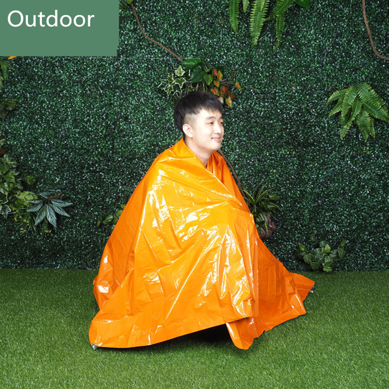 Outdoor PE Orange First Aid Blanket Rescue Blanket Warm Survival Thermal Blanket Rescue Emergency Blanket EquipmentOutdoor PE Orange First Aid Blanket Rescue Blanket Warm Survival Thermal Blanket Rescue Emergency Blanket Equipment
