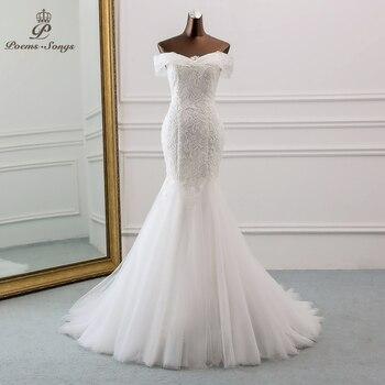 2d816662917fe59 PoemsSongs/Новинка 2019 года; стильное красивое кружевное свадебное платье  с блестками и вырезом лодочкой