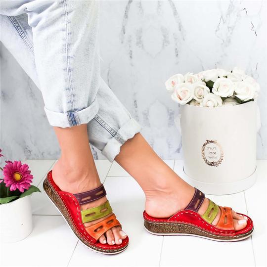Wedges Shoes Slipper Footwear High-Heeled Casual Women's Woman Summer