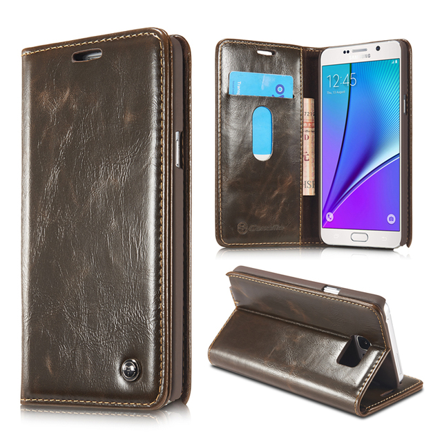 Original For Fundas Samsung Galaxy Note 5 N9200 Case Luxury High Quality  Wallet Leather Case For 43592846cdd6