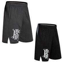 SYNSLOVE дизайн образец тренировочный Баскетбол kyrie irving логотип живопись спортивные шорты свободные половина длины размера плюс двойной карман