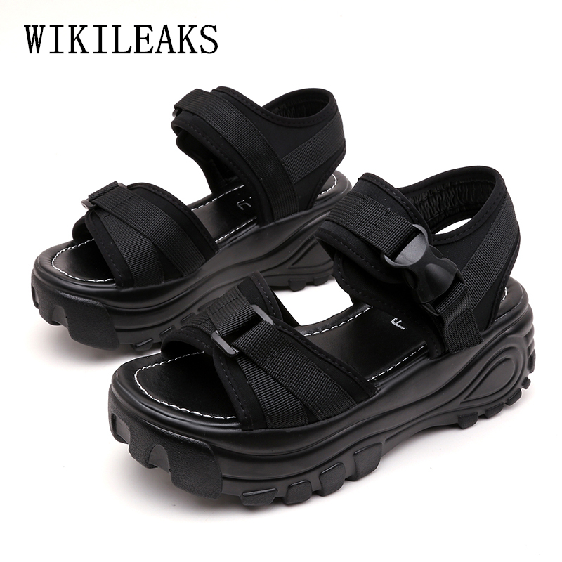 wedges shoes for women platform shoes woman sandals sandali donna sandalias mujer 2018 black platform sandals women summer shoes