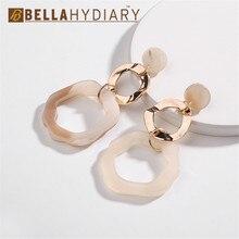 Bijoux Wedding Party Acrylic Circles Geometric Long Big Earrings Drop Earrings For Women Jewelry Statement Gifts For Women