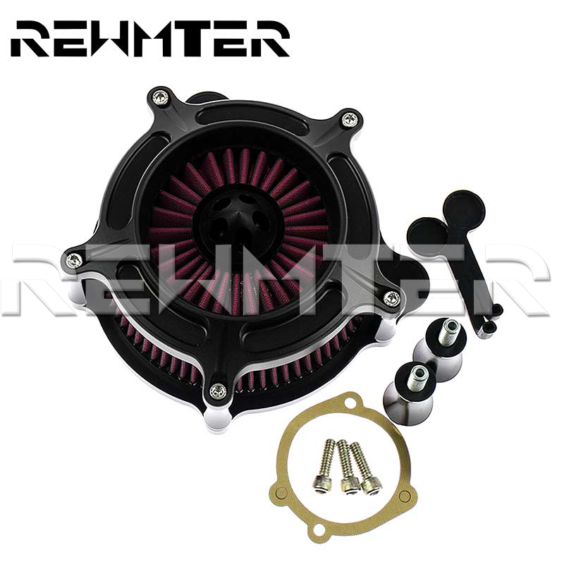 Air Cleaner Intake Filter Kit For Harley Sportster XL883 XL1200 1986-2017 2012 Y