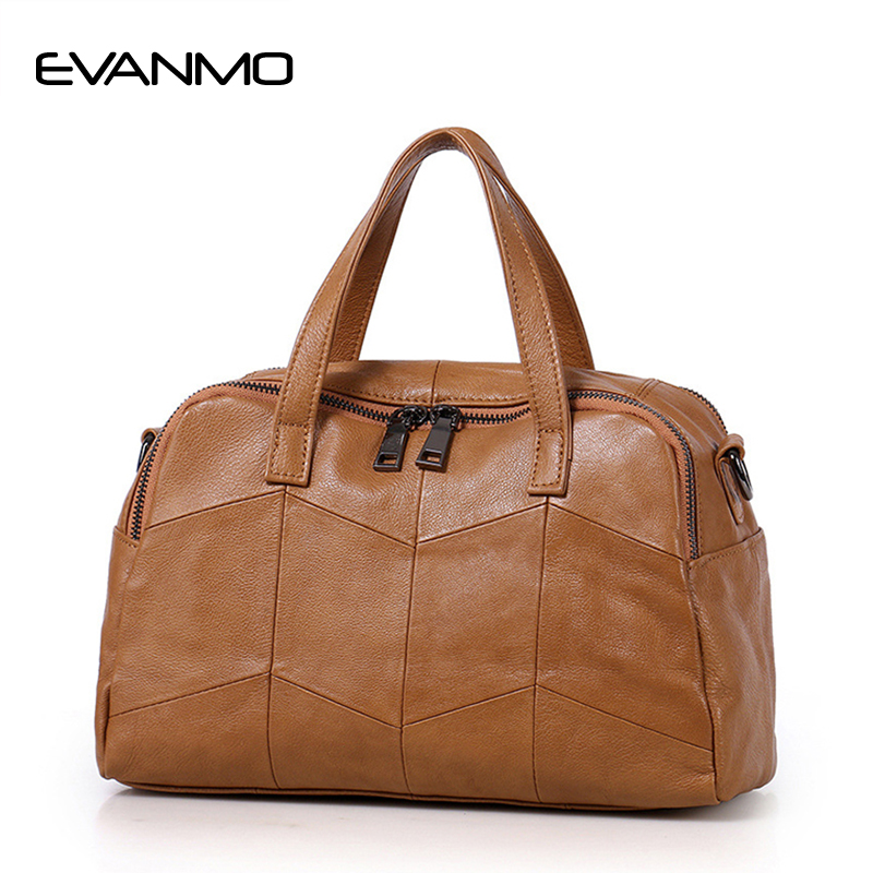 2017 Hot New Arrival Boston Soft Leather Handbag Cow Leather Messenger Bag High Quality Tote Bag Classic Casual Shoulder Bag new arrival super star leather shoulder tote boston hobo bag hot sale hollywood fashion style high quality handbag for women