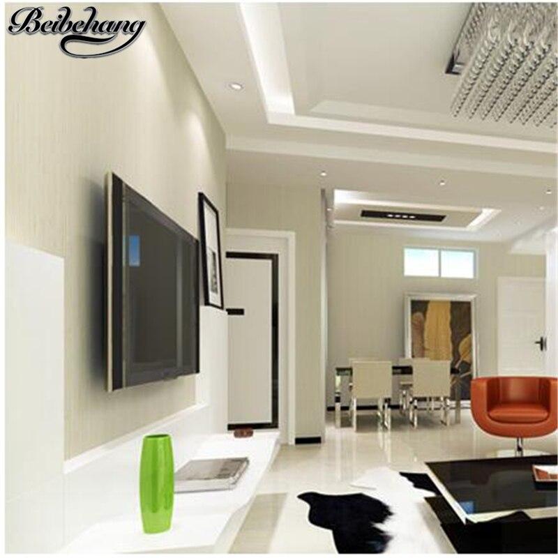 Beibehang Moderne Einfache Tapete Klar Vertikale Striped Silk Garn Tapete  Vliesstoffe Wohnzimmer Schlafzimmer Grauen Wand Papier