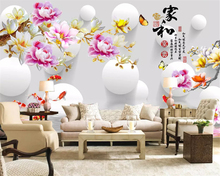 beibehang Modern fantasy fashion stereo thick silky wall paper magnolia 3D TV background papel de parede 3d wallpaper