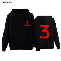 JXGXSX Men Brand Clothing Men Casual Hoodies Sweatshirt 3 Print Trend Fleece Cotton Pullover Coat Warm