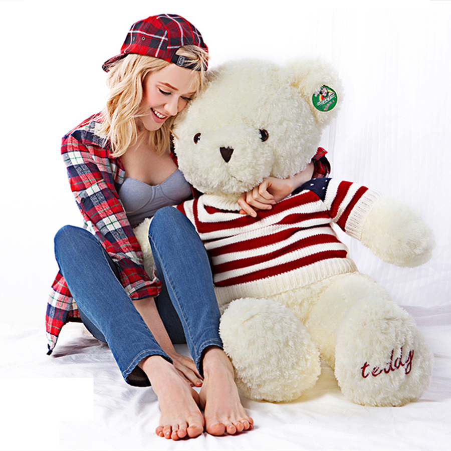 где купить Big Teddy Bear For Valentines Day Stuffed Bears Pluche Stuffe Speelgoed Kawaii 120cm Soft Giant Teddy Bear Plush Large 70C0430 дешево
