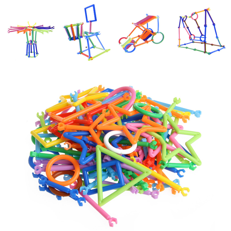 120Pc/Set Sticks Plastic Building Blocks for Children Assembled Educational DIY Toys