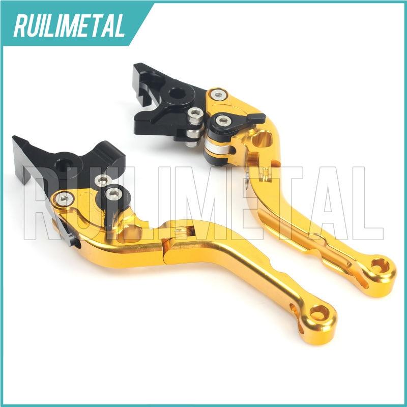 Adjustable Short Folding Clutch Brake Levers for MV AGUSTA BRUTALE 750 03 04 05 F4 750 99 00 01 02 RIVALE 800 14 15 2014 2015 adjustable cnc 3d folding brake clutch lever for mv agusta brutale 990 2010 2012