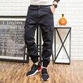 Primavera Otoño Hombre Overol Pantalones de los hombres Más El tamaño Colorido multi-bolsillo Flojo Harem Hip Hop Casual Joggers Pantalones M-5XL