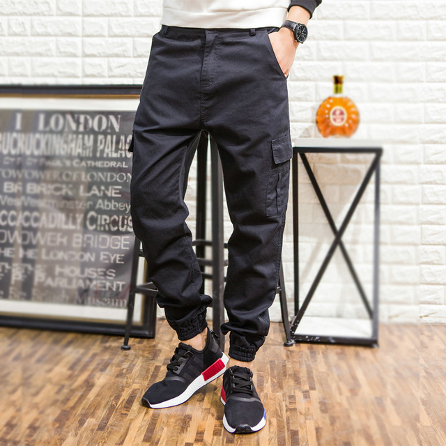 9646c947df3 Spring Autumn Mens Overalls Pants men Plus size Colorful multi-pocket Loose  Harem Hip Hop