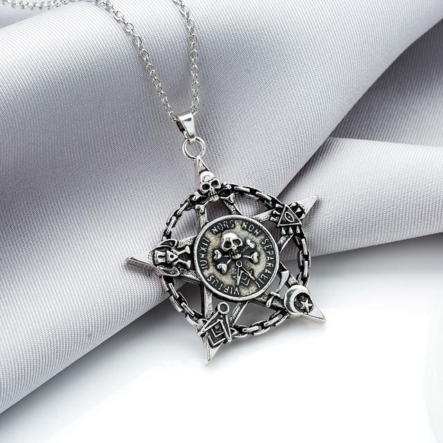 Luminous Star Skull Pendant Necklace4