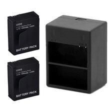 2Pcs 3.7V 1600mAh Digital AHDBT-201 Hero 3 Battery + Dual USB Charger For Gopro Hero 3 3+ AHDBT-201/301 camera accessories