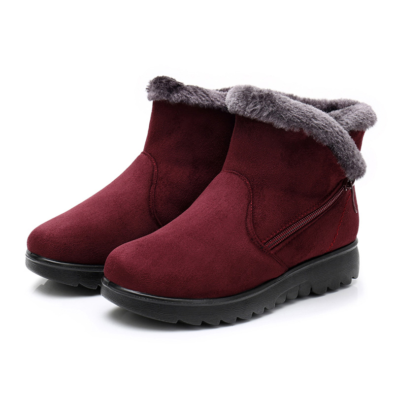 a7d088603 Casual 41 Rojas Calientes Piel 183red Plataforma Para Nieve Grande 183brown  183black Botas Talla De Mujer Zapatos 2018 Invierno Negras IxZFcqw70