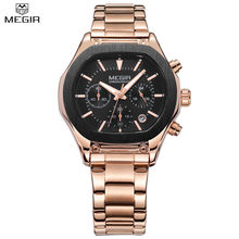 MEGIR Brand Men Chronograph Quartz Watch 24 Hours Auto Date Multifunction Military Watches New Style Watches