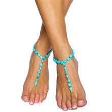 Fabulous Diomedes Fashion Anklet Boho Beads Anklets Bracelet Foot Chain Beach Jewelry Jun23