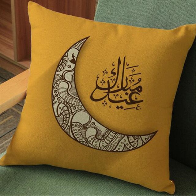 High Quality Pillow Case, Islam Muslim Religion Datura Flower Cotton Linen Throw Pillow Cushion Cover Pillow Cover
