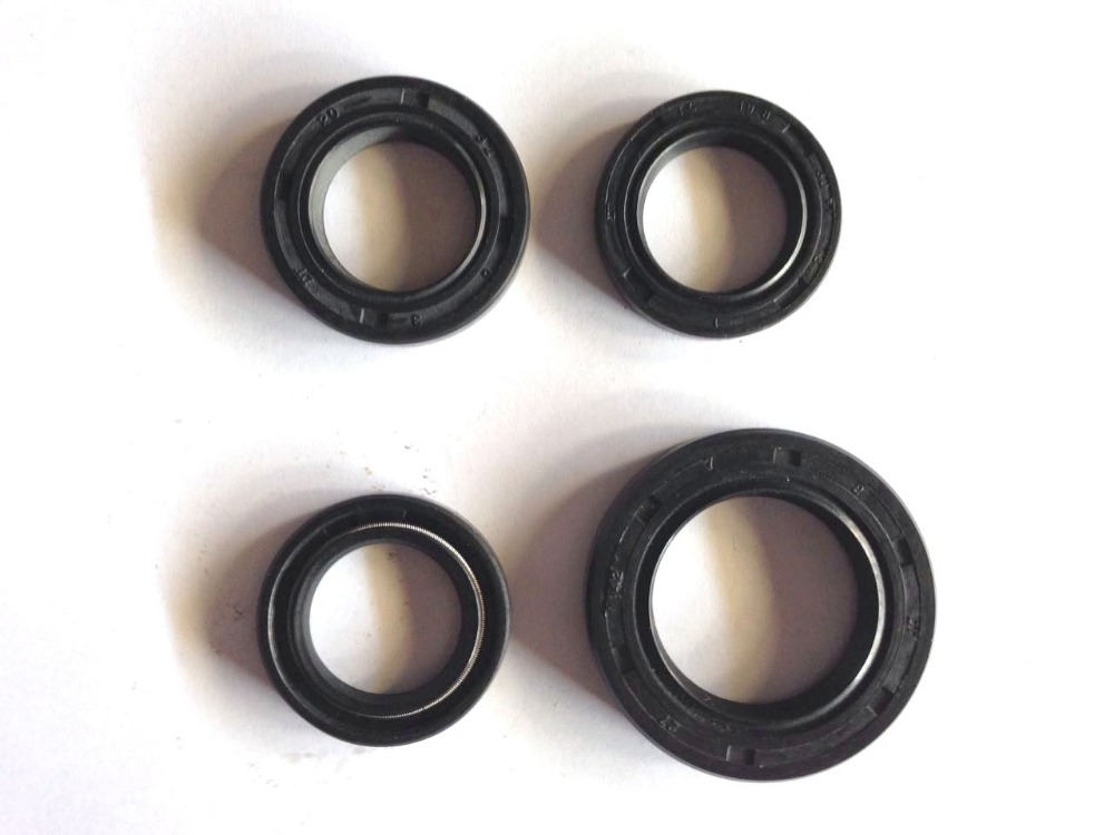 Black Rubber Motorcycle Motorbike Scooter Engine Oil Seal Kit for GY6-125