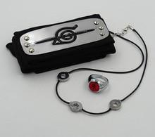 3 Piece Set Naruto Headband Ring & Necklace