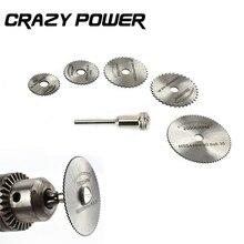 Crazy Power 6pcs Mini HSS Circular Saw Blade Rotary Tool For Metal Cutter Power Tool Wood Cutting Discs Drill Mandrel Cutoff