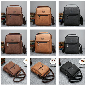 Image 4 - JEEP BULUO Brand Man Handbag Hot Sale Men Messenger Shoulder Bags Frosted Leather Totes Classic Brown Crossbody Bag New Style