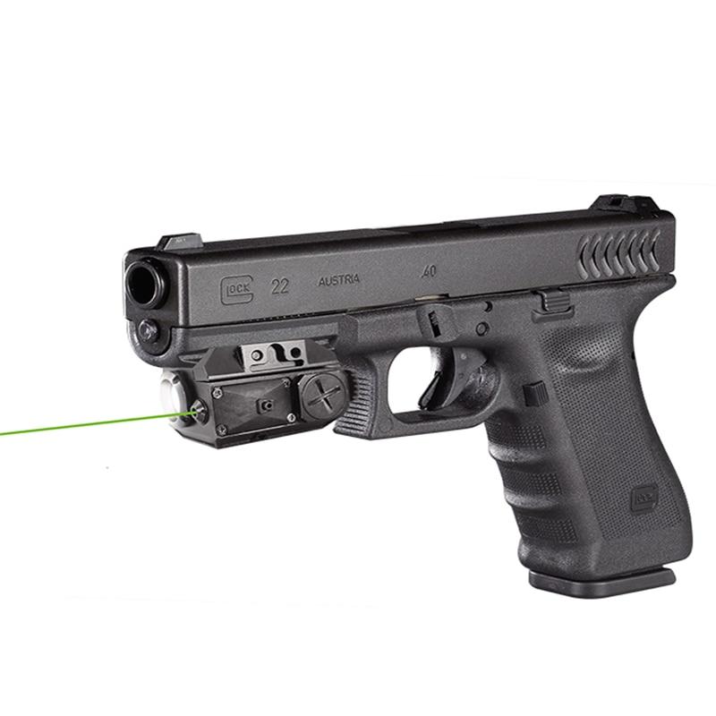 Livraison directe Glock picatinny laser vert vue avec tactique lumière led pistolet vert lumière laser combo lumière laser combo