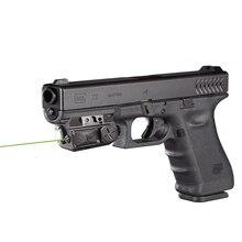 Transporte da gota glock picatinny visão laser verde com led tático luz arma verde luz laser combo luz laser combo