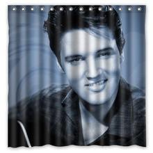 Elvis Presley Waterproof Shower Curtain Polyester Fabric Bath Bathing Bathroom Curtains With Hooks Home Decor