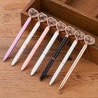 Kawaii Crystal Ballpoint Pen Fashion Girl Heart shape Large Diamond Metal Pen Material Escolar Bolis Escolares Novelty School