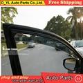 D_YL visor car styling Chrome Deflector de Viento Viso Lluvia/Guardia Sun Vent FIT Para 2010-2012 Nissan Altima Lluvia escudo