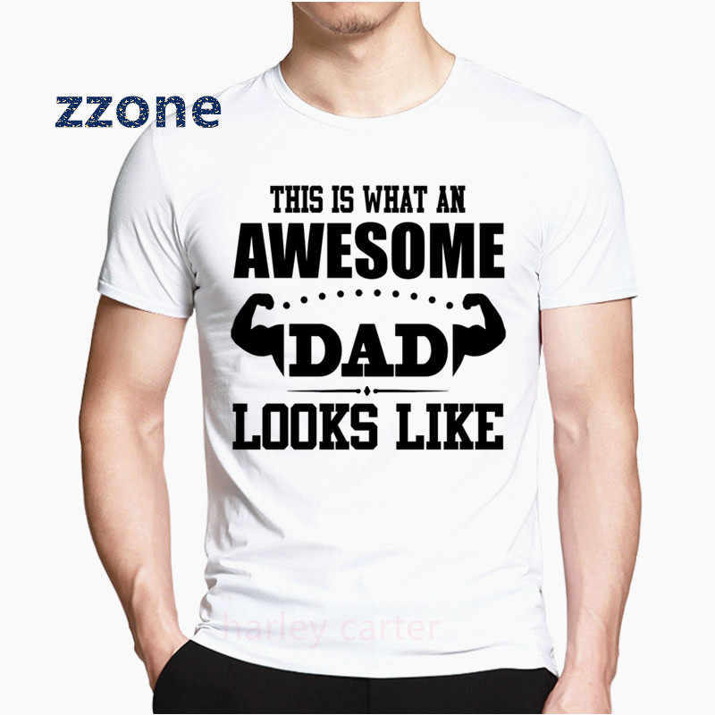 Man Happy Father's Day Gift T Shirt Men Rock Super Papa Tops Tees Fashion Summer pop Tshirt fashion t-shirt Teens HCP6065