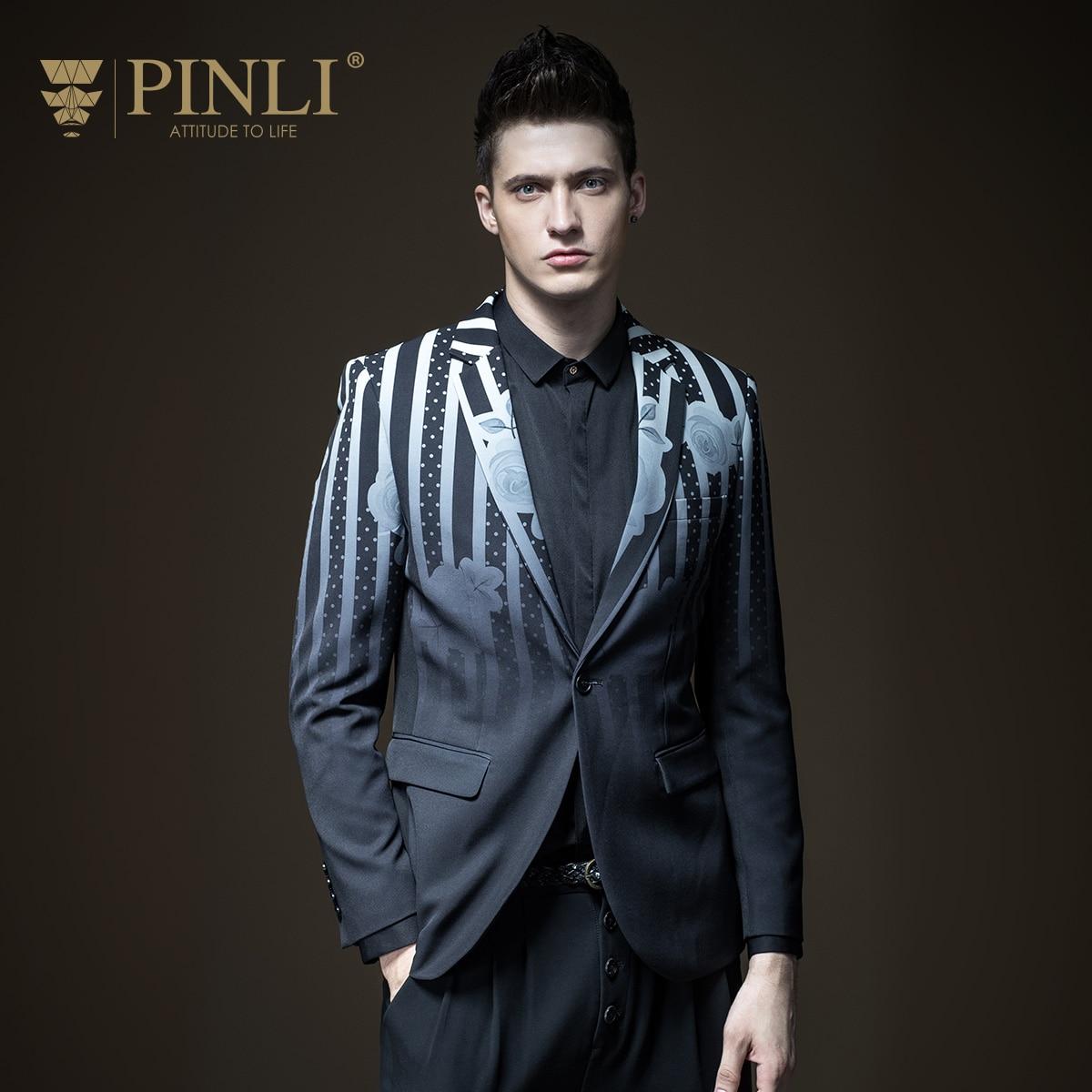 Costume Homme Pinli Produit L'imprimerie Et Costume De Loisirs Pour Hommes Manteau De Cultiver La Moralité B173306167 Automne Mode