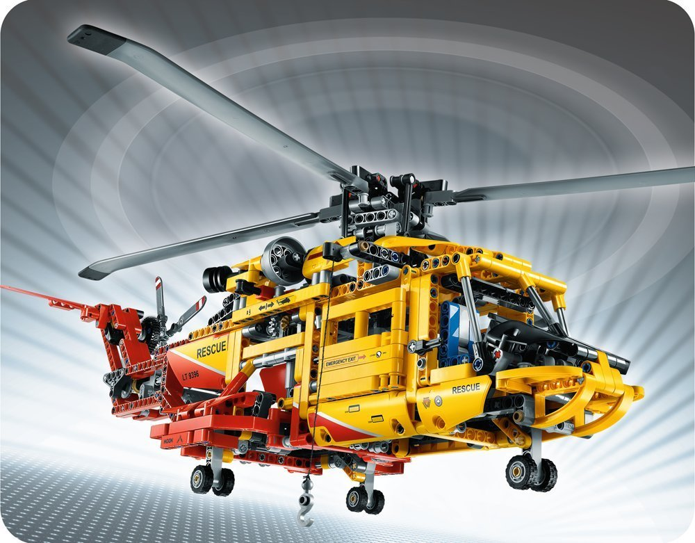 DECOOL Technic City Series 2-in-1 Rescue Helicopter Aircraft Building Blocks Bricks Model Kids Toys Marvel Compatible Legoings decool technic city series bucket truck building blocks bricks model kids toys marvel compatible legoe