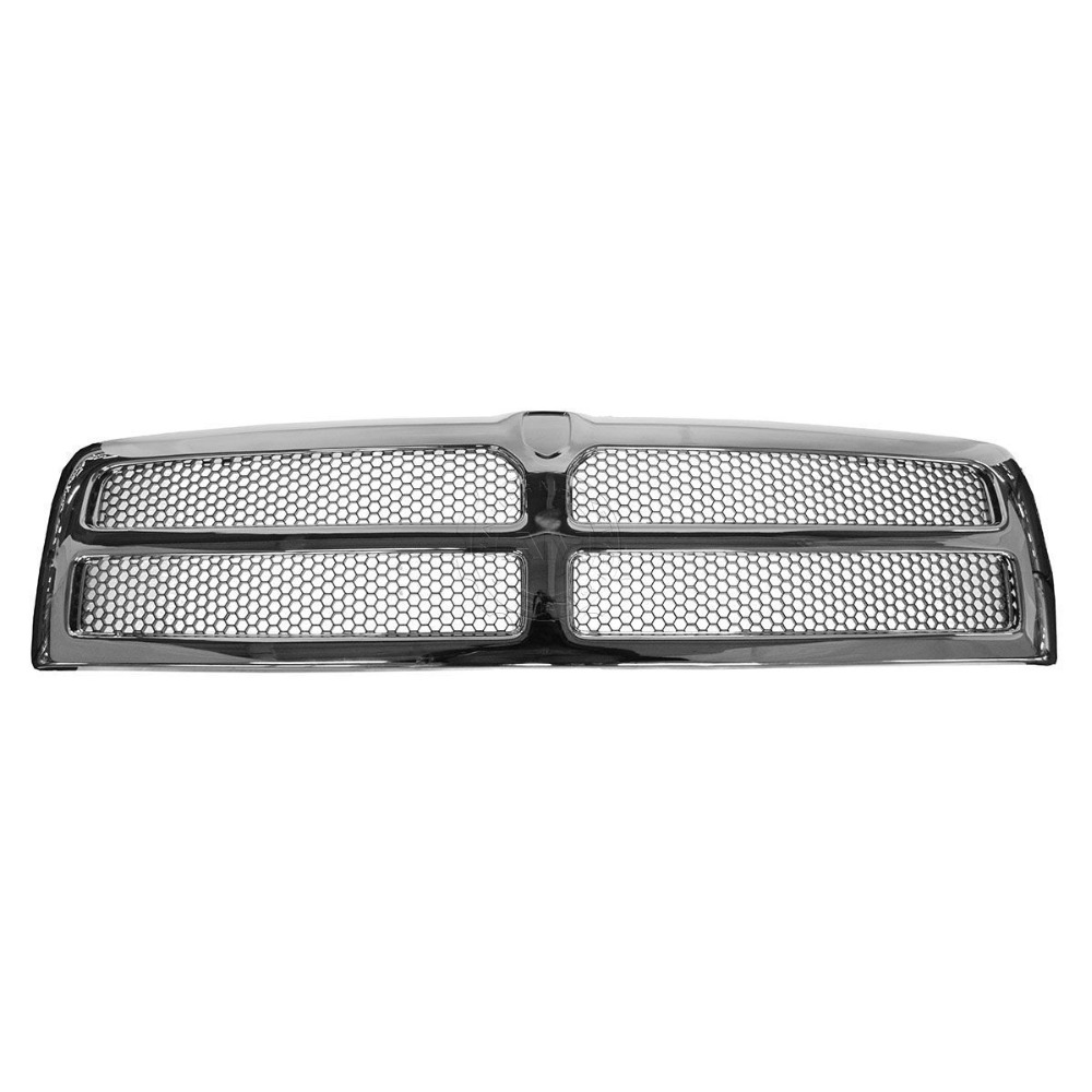 XYIVYG Grille Grill Chrome Front End for Dodge Ram 1500 2500 3500 xyivyg 2006 2008 for dodge ram 1500 2500 3500 mesh style front hood grille glossy black abs