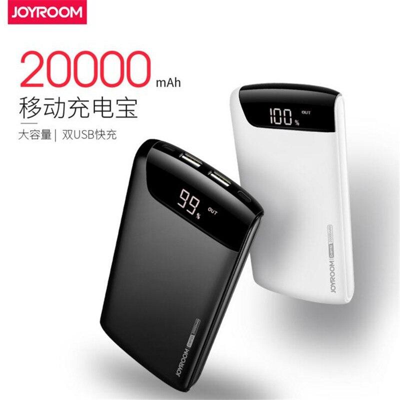 imágenes para Joyroom 20000 mAh Power Bank Cargador Portátil de Baterías Externas de Doble Puerto USB de Carga Rápida para Móviles Tablet Pc