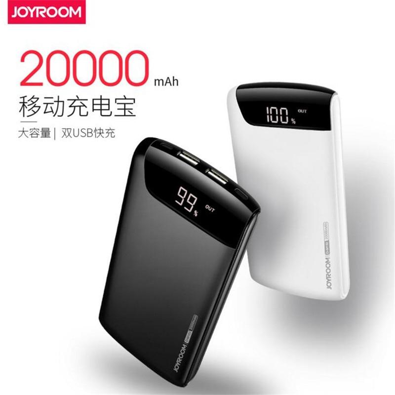 bilder für Original Joyroom 20000 mAh Energienbank Dual USB Port Tragbare Ladegerät External Battery Pack Schnellladung für Handys Tablet PCs